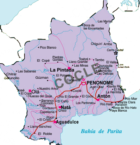 Carte Cocle Panama