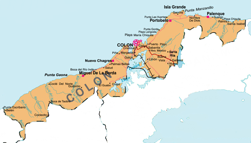 Carte Colon Panama