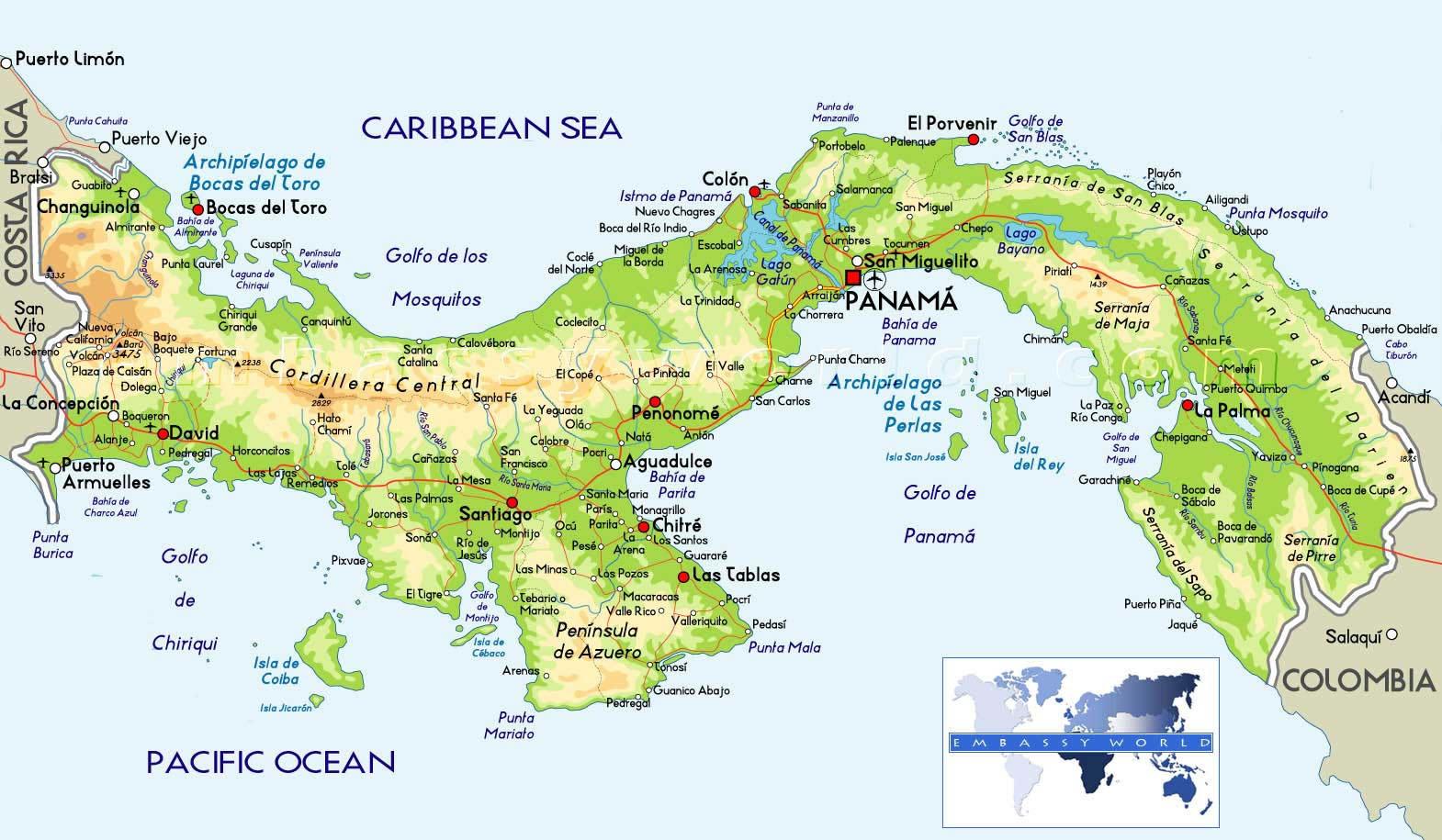 Mapa vegetación Panamá